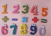 Free shipping / Large wooden figures Math fridge magnet / Cartoon Magnet / Early Educational Products