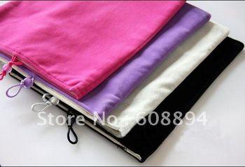 DHL,300pcs/lot 10 inch cases Soft Socks Velvet Carry Bag Pouch Cover Case For 10 inch tablet pc ebook,Wholesale,Mix Color