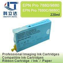 220ML Compatible ink cartridge for Epson pro 7880 9880 7880c 9880c  pigment ink  Cartridges T6031-T6039 220ml* 8 Color Set