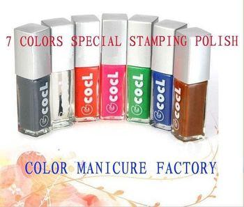 Stamping Polish Freeshipping Stamping Nail Polish Kit Excellent Quality 10ml 7pcs/set Nail Art Polish Varnish For Paint Drawing
