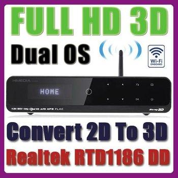 DHL Free* Himedia HD900B (Convert 2D to 3D) Full HD 1080p HDMI 1.4 Blu-Ray ISO HDD Wifi NetWork Media Player Realtek 1186