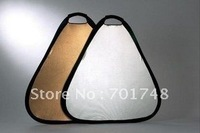 "Pro Triangular Gold & Silver Light Studio Reflector 24"" Photography tool"