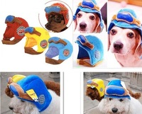 dog hat Pet motorcycle helmet pilot cap hat locomotive cap 3 sizes 3 color   free shipping