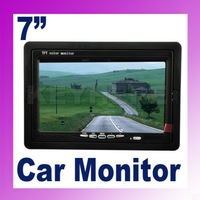 "7"" TFT LCD Headrest Stand Color Car Monitor Rearview DVD VCR"