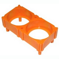 38120 LiFePO4 battery cell plastic holder with 2 holes