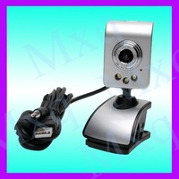 10pcs/lot  USB 30M Webcam Video Camera + MIC FOR PC Laptop 30 MEGA  3-LED night vision Free shipping