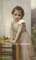 Free shipping 100% handpainted Art Portrait oil painting of littler Yvonne on canvas(China (Mainland))