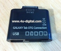hot sale 10pcs/lot 5 in 1 OTG Connection Kit+Card Reader for Samsung Galaxy Tab 10.1 P7510/P7500/P7300/P7310 Free Shipping