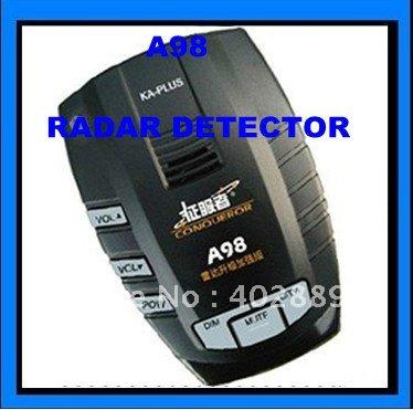 Radar Detector GPS Edog Navigator Conqueror Radar Eye Car Sensor Road Camera detector A98+free shipping(China (Mainland))