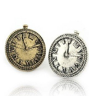 Fabulous Antique Silver/Bronze Watch Rings,Free Shipping/Wholesale Vintage  Personalized Clock Resizable Ring