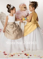 Детское платье 2012 Flower Girl Dress Girl Dress with Jacket Custom size/color