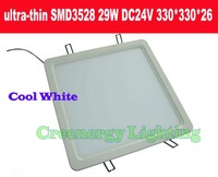 New ultra-thin High bright 29W DC24V Cool White LED Square panel ceiling light