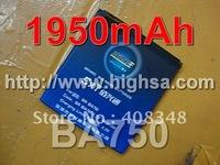 1950mAh BA750 High Capacity Battery Use for Sony Ericsson LT 15i/Xperia Pro/X12 etc Mobile Phones