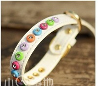 Rainbow diamond dog collar ultra super bright pet collar