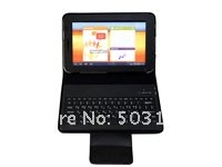 "2011 new Top selling Wireless Bluetooth keyboard for Samsung Galaxy Tab 7"" 6200 tablet pc black Retail Box packing+Free Shipping"