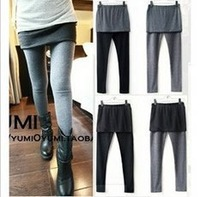 Thick warm winter clothes self Leggings  women's winter skirt pants #0572 fashion wholesale T-shirt