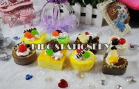 Free Shipping/New sweet cake squishy charm/Squishies/Key chain/Mobile phone strap/chain/bag pendant Wholesale 8774