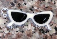Free Shipping 100pcs zinc alloy metal sunglass enamel pendant enamel charms 33x13mm