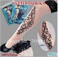 40pcs=20pair /lot , Tattoo socks, Temporary Tattoo , Super Quality & Free Shipping & Wholesale