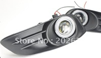 FREE SHIPPING, 2011 TOYOTA YARIS SPECIAL FOG LIGHT WITH CCFL ANGEL EYE