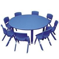 CE certified *Kids Plastic Table, Nursery tables/ Nursery School Furniture- plastic round tables