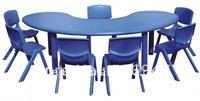 CE certified *Kids Plastic Table, Nursery tables/ Nursery School Furniture- Moon tables