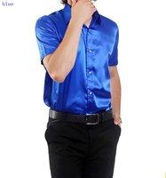 Casual shirt men's shirt  /silk men's  shirts  short sleeve