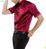 Casual shirt men's shirt  /silk men's  shirts  short sleeve/ wholesale and retail/mixed color