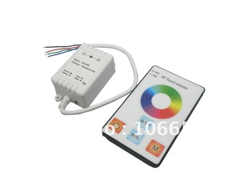 DC12v 6A 72w RGB wireless RF touch LED controller dimmer rgb led strip touch controller