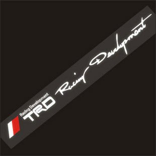 TRD RACING DEVELOPMENT Screen Car graphics Decal Sticker Decor Vinyl,free shipping