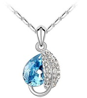 colorful diamond ball pendant necklace 2012 new style