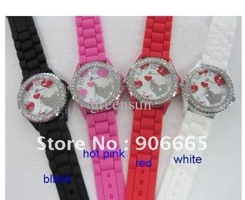 Wholesale --Fashionable new quartz watch watch silica gel form 50pcs
