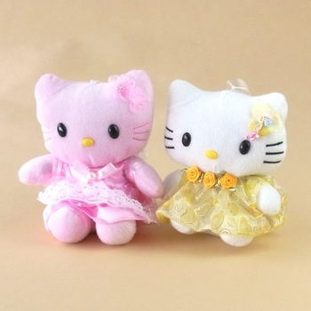 Hello Kitty Bowknot Plush Toy Doll w/Suction Cup 1601