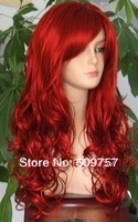 Healthy Malaysian Curly Imitate Human Remy Hair Full no Lace Wig Sexy wave lady long Red Curly Cosplay Wavy Wig wigs