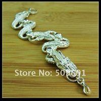 Free shipping Hot sale silver Fashion magic dragon charm bracelet  YPB42