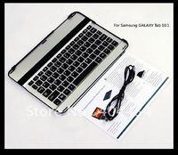 10pcs Ultrathin Aluminium Bluetooth Wireless Keyboard for Samsung Galaxy Tab 10.1 P7500 P7510 Tablet PC Free shipping