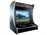 19 inch LCD Desk Arcade Game Machine with 108 in 1 jamma board/2 player/chrome edge/Stereo Speakers/Horizontal display