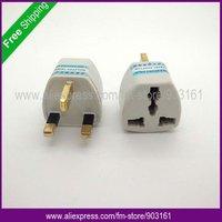 Free Shipping 5pcs Universal AU US EU to UK AC POWER PLUG Electrical Travel Adapter Socket Converter 3 Pin British