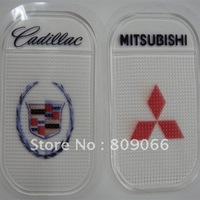 customized Mitsubishi Silicon Sticky Jelly mobile phone Mat, transparent PU car anti slip mat, non slip pad, PU Magic Sticky Pad