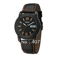 NEW STYLE Fashion EYKI Leather Men's Water Resistant quartz Watches W8469