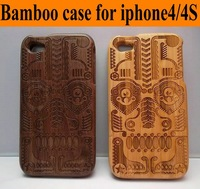 Free shipping Brand new For iphone case, Bamboo Case for iPhone 4G 4S, New arrival wooden case