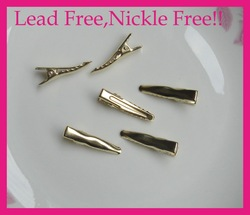 Bargain for Bulk high quality 3.0cm golden plain metal alligator clip with teeth at lead free and nickle free quality(China (Mainland))