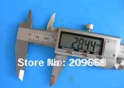 "Free shipping 0-6"" 0-150mm large LCD display Metal Housed Fractional 6 inch digital inside outside vernier caliper with box(China (Mainland))"