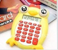 12 Digits Solar Hotsale + cute chicken  / Folding calculator / Electronic calculator / / Cartoon / Lovely / Free shipping