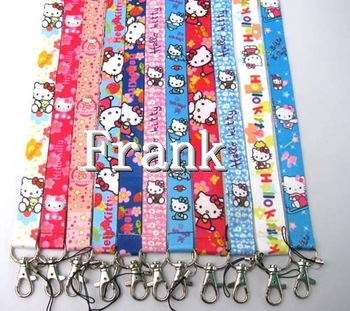 Wholesale 100pcs Cell Phone MP3 Neck Straps Lanyards Charms - Hello Kitty