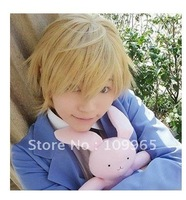 Ouran High School Host Club Tamaki Suoh cosplay wig costume party hair blonde+cap gift