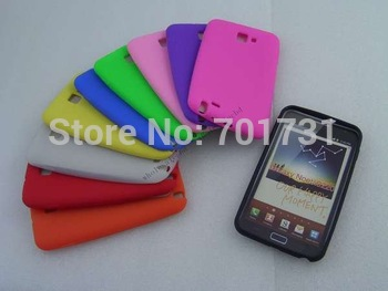 100pcs/lot  Competitive Silicone Back Cover Skin Rubber Soft case for Samsung Galaxy Note i9220