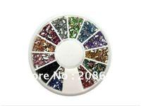 Nail Art Decoration Freeshipping 1000pcs/ wheel 3D Nail Glitter Sticker 10wheels/lot Nail Decals Wholesale