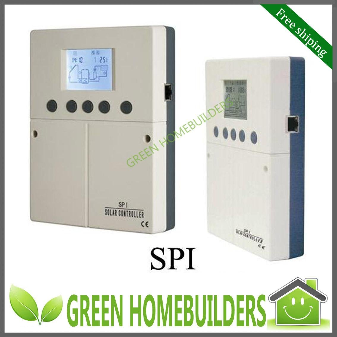 Free shipping ,Internet Access Provided LCD,Intelligent Solar Water Heater Controller SPI for Split Solar System(China (Mainland))