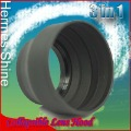 Free shipping & Tracking # - 67mm 67 Rubber 3in1 3-stage Collapsible Lens Hood for Canon Nikon - AB1305